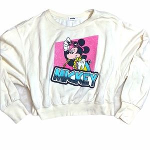 Retro Mickey Mouse crop sweater